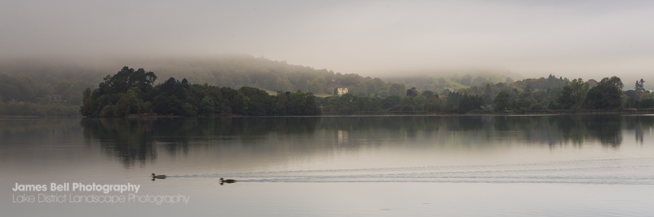 Grasmere Panoramic view on a misty morning
