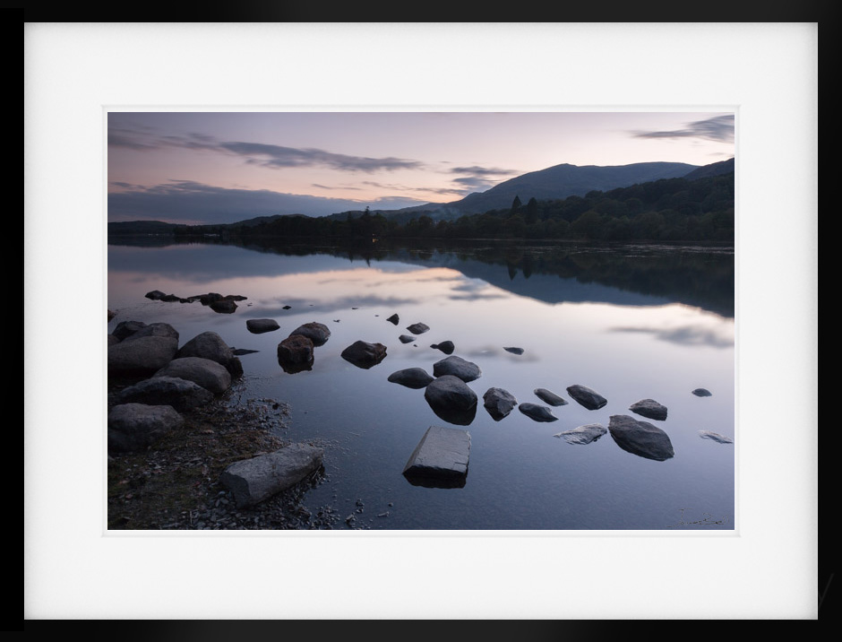 Calm Consiton Lake District Print by James Bell