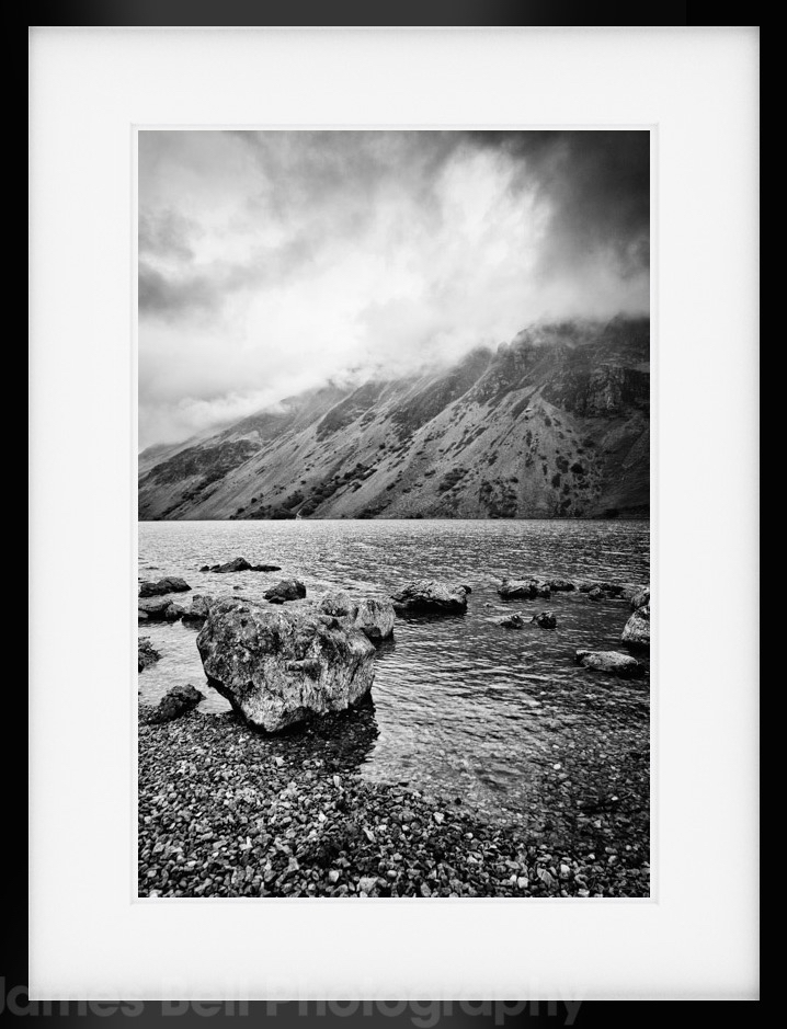 Moody wastwater lake district landscape photography prints