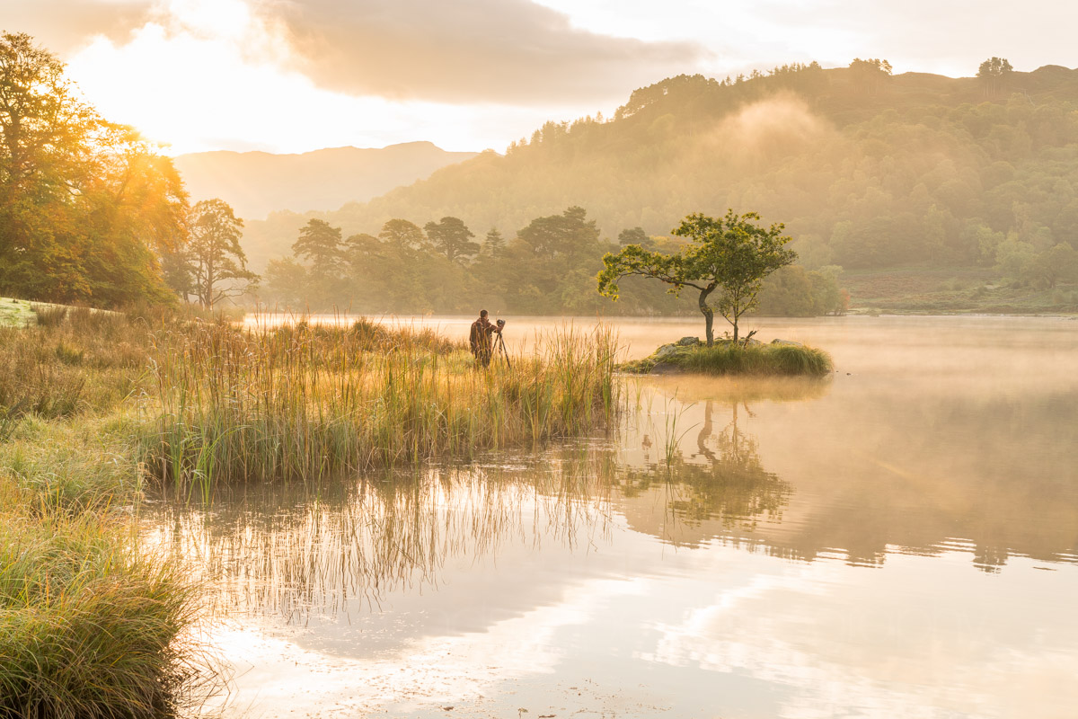 Rydal Water Misty Sunrise Landscape Photography Shoot