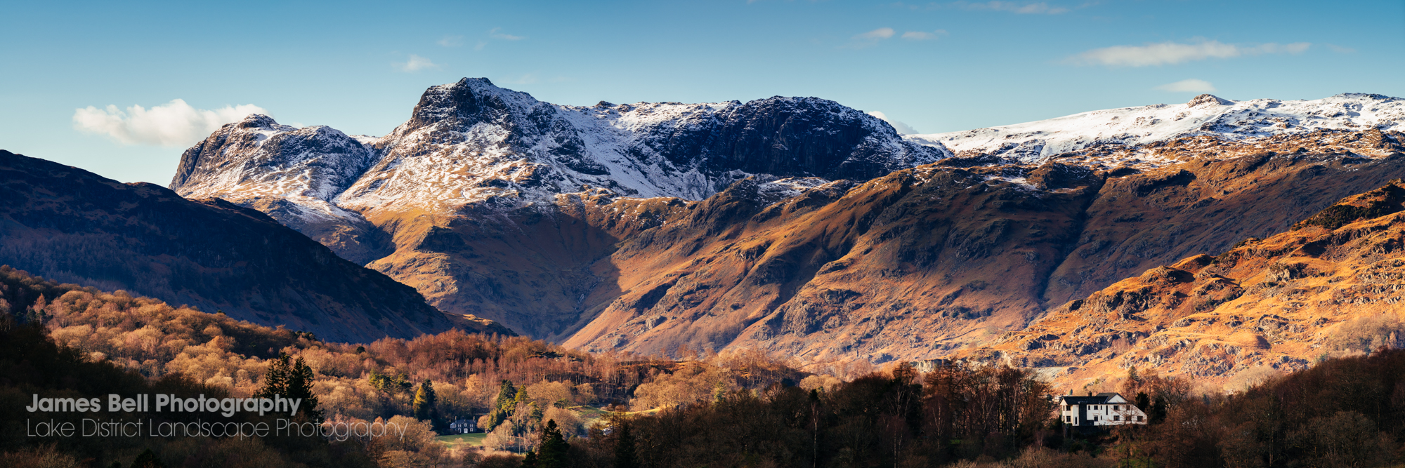 Langdale Pikes Landscape Photography Print for sale