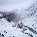 Honister Pass in snow