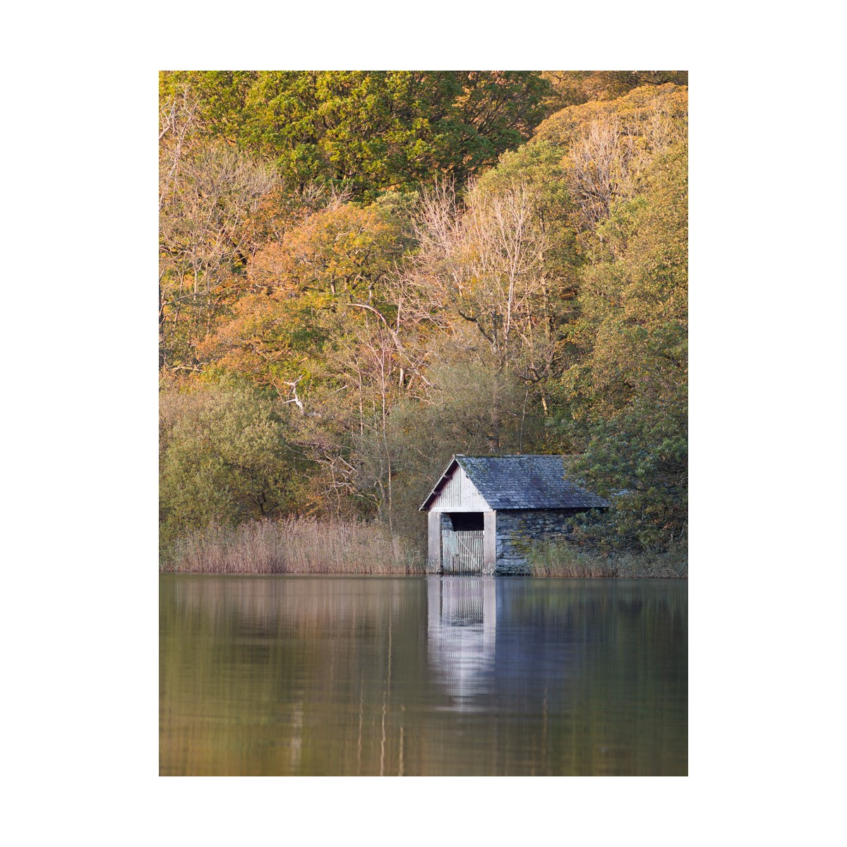 Rydal Water Boathouse Autumn
