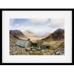 Warnscale Bothy The Retreat Framed print by James Bell