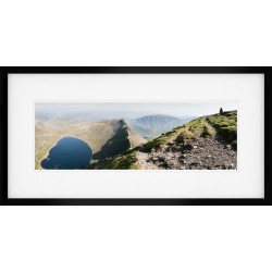 Striding Edge Colour Framed Print