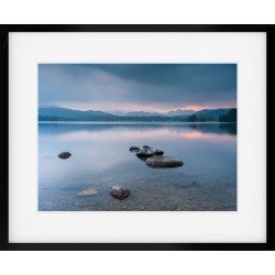 Windermere Glow Wide Framed print