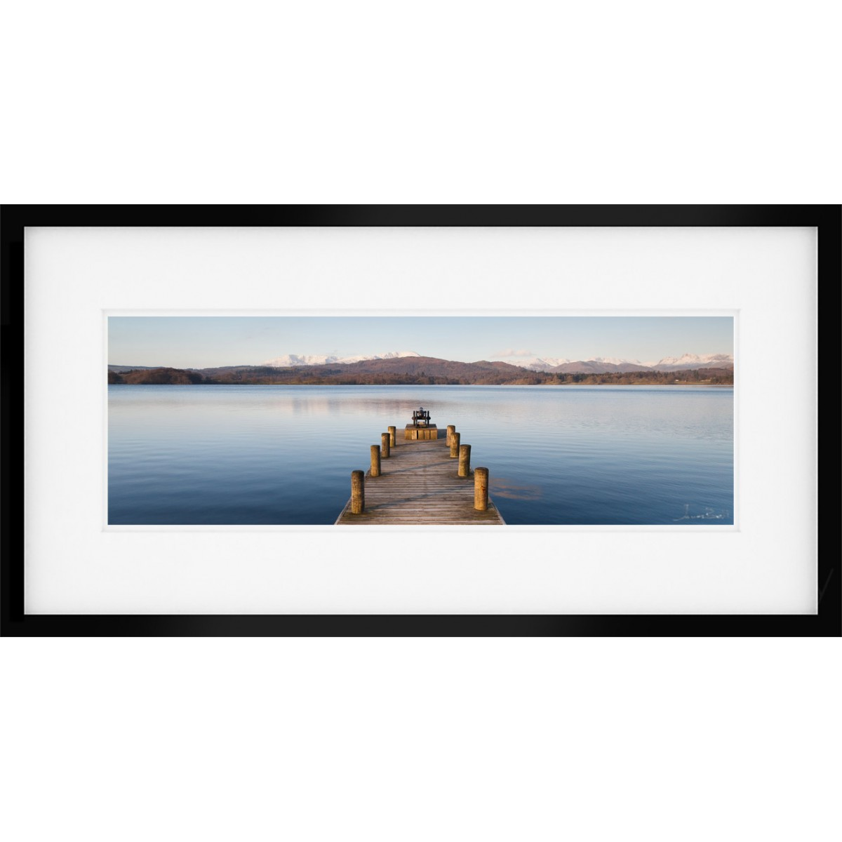 Windermere Jetty Wide Framed Print