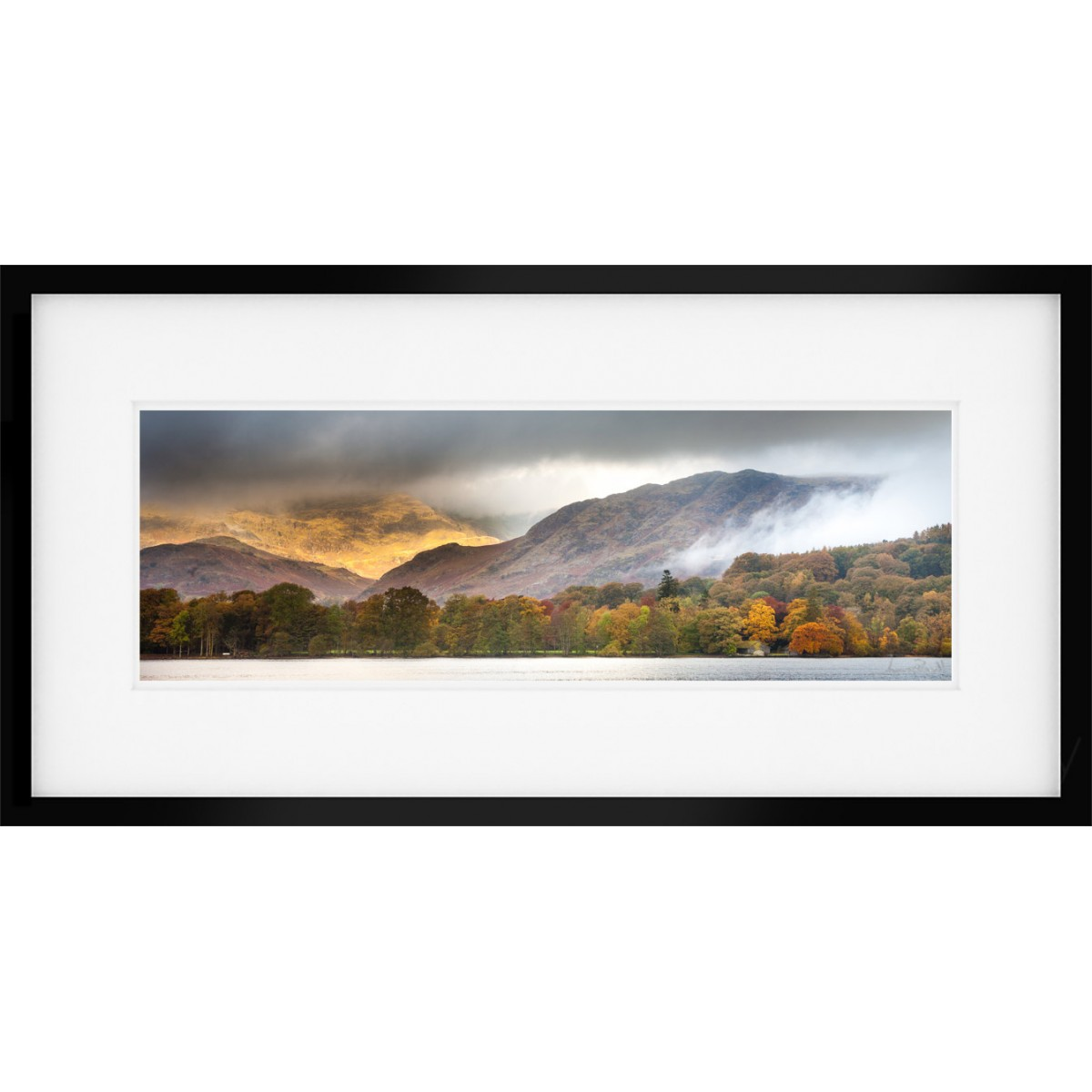 Coniston Gold Framed Print