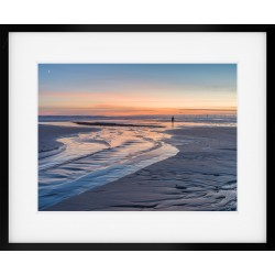 Crosby Beach Sunset Framed Print