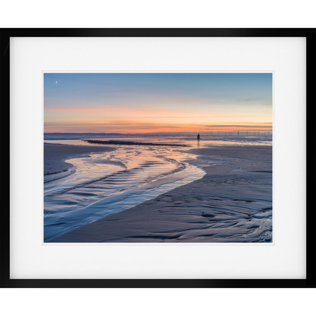 Crosby Beach Sunset Framed Print