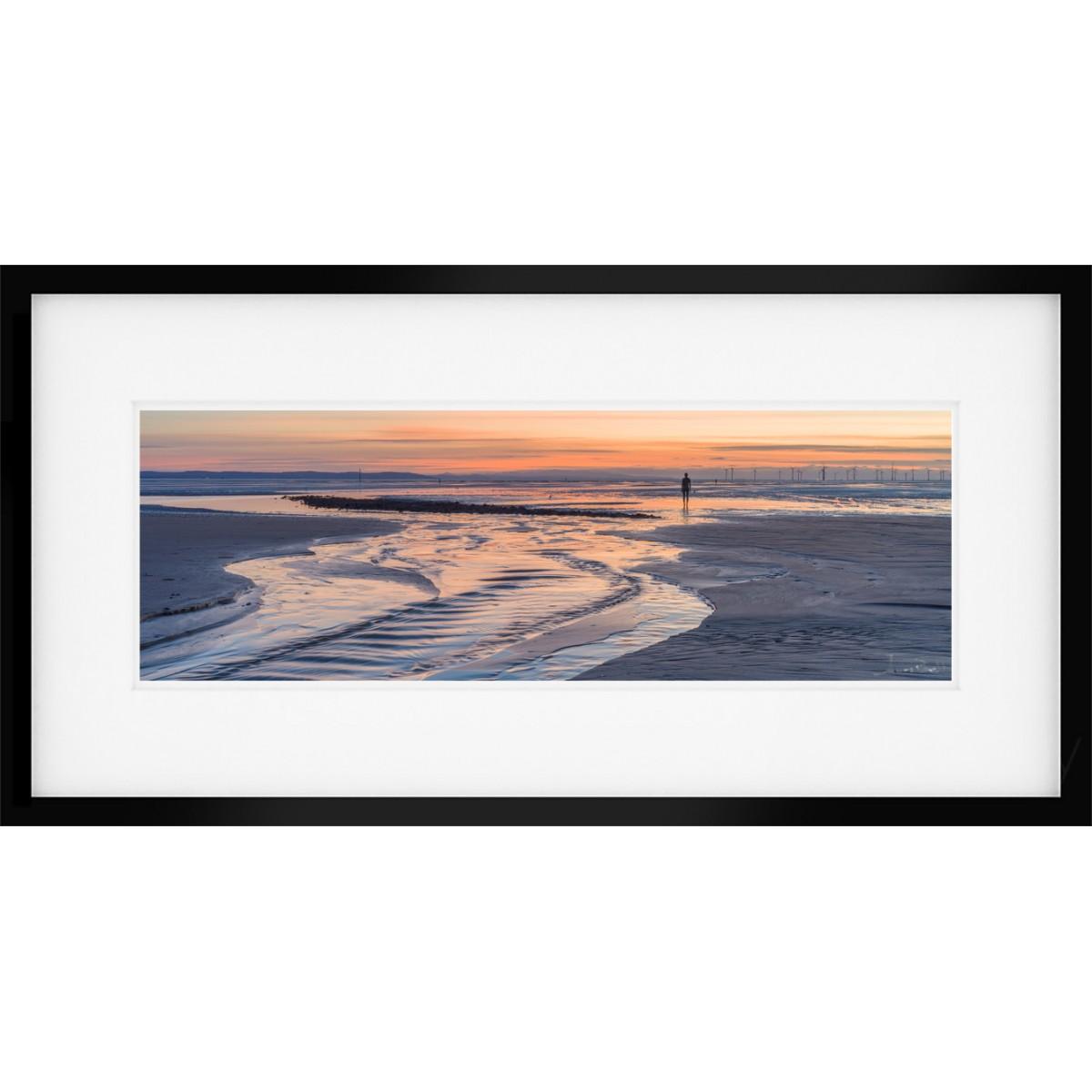 Crosby Beach Sunset Vista Framed print