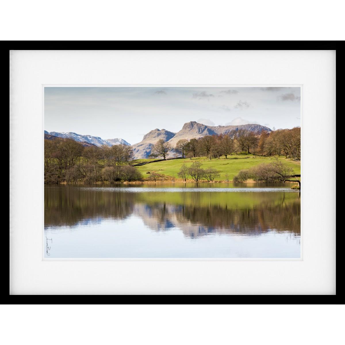 Loughrigg Tarn Langdale Fells Framed Print