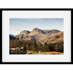 Over Elterwater framed print