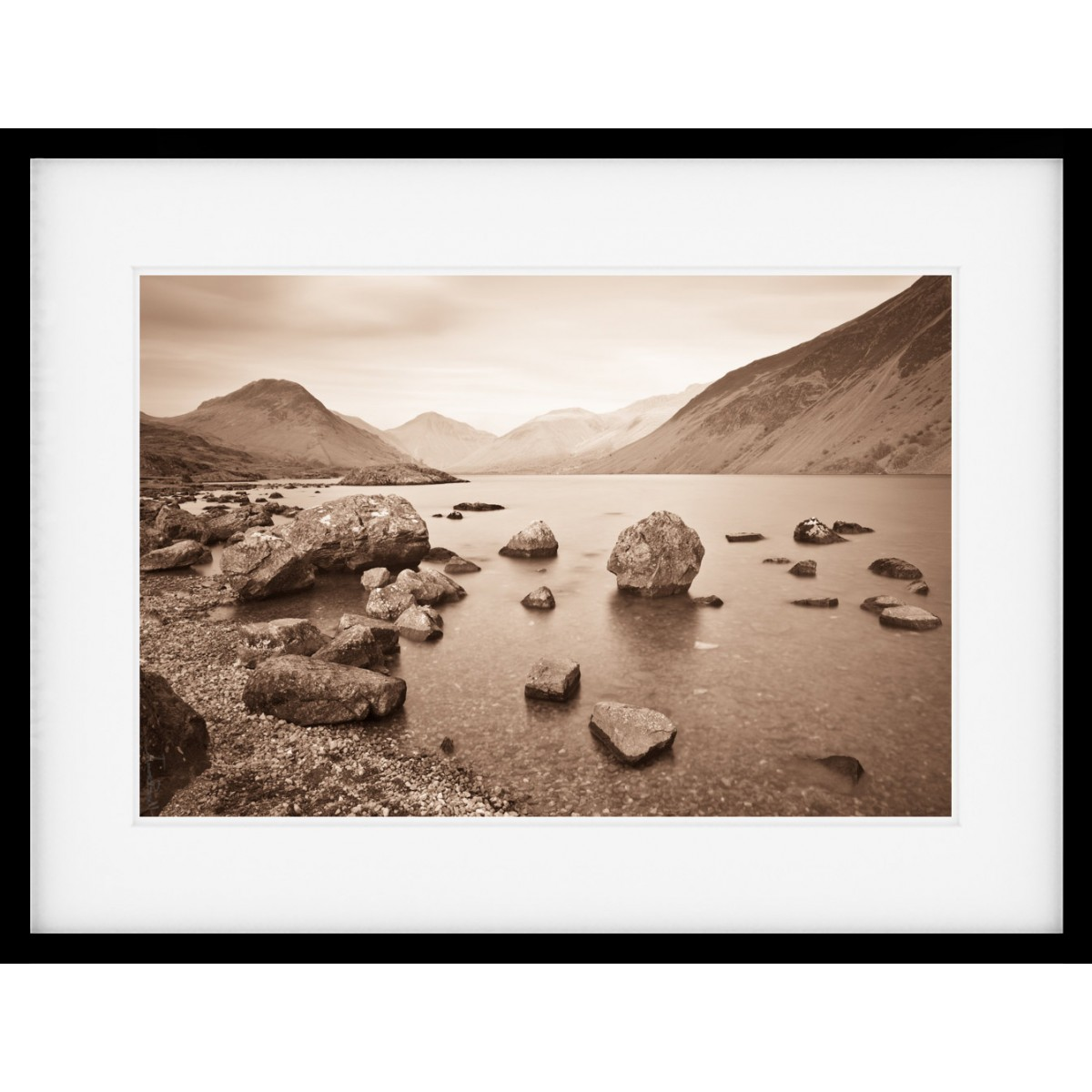 Wastwater Favourite Sepia Framed Print