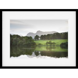 Across Loughrigg Tarn Framed Print