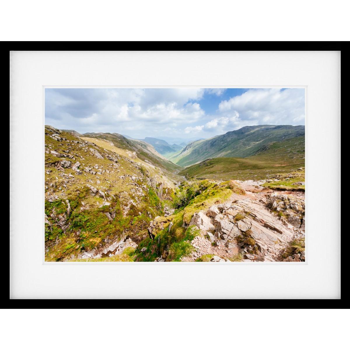 Into Seathwaite framed print