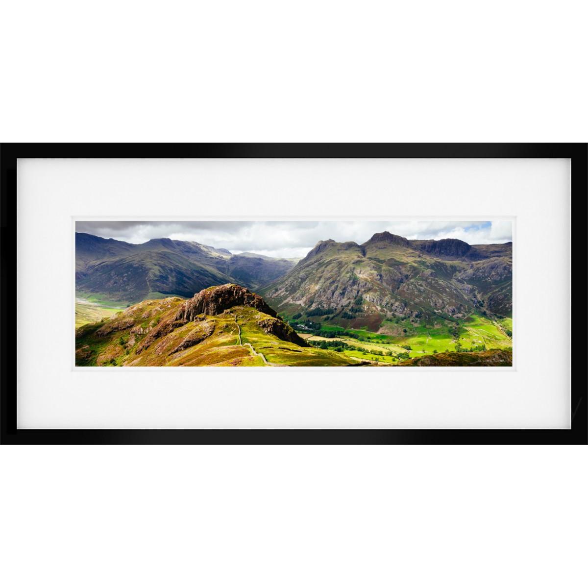 Langdale Pikes & Side Pike framed print