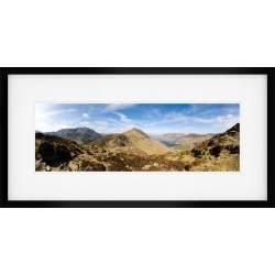 Haystacks Summit Framed Print