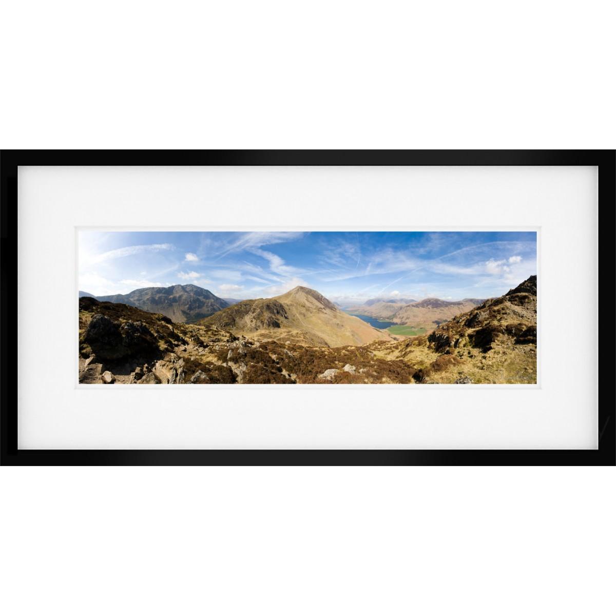 Haystacks Summit Framed Print