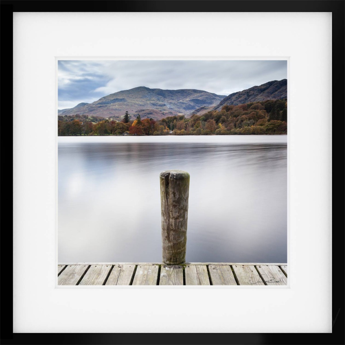 Coniston Jetty Post Framed Print