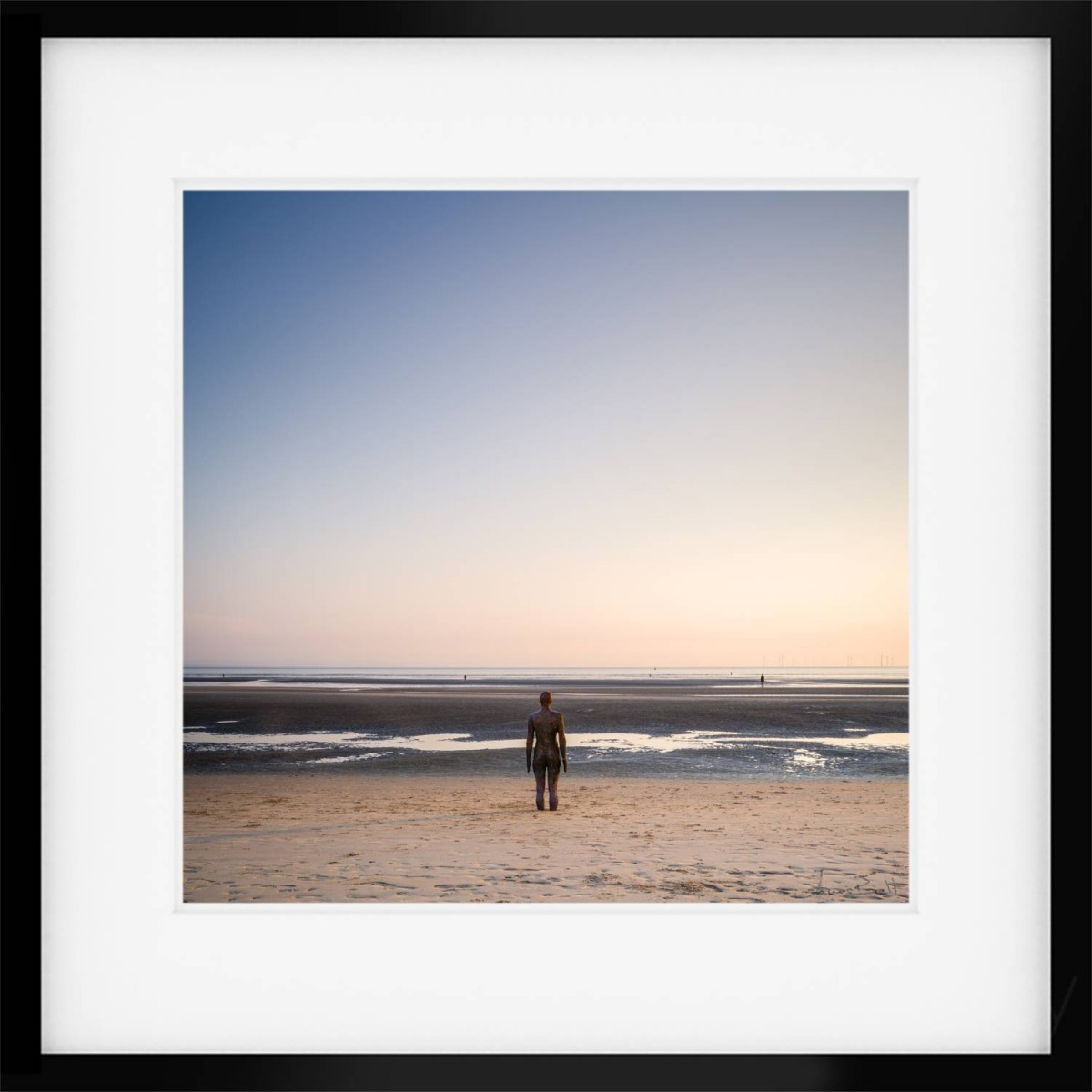 Another Place Iron Man Framed Print