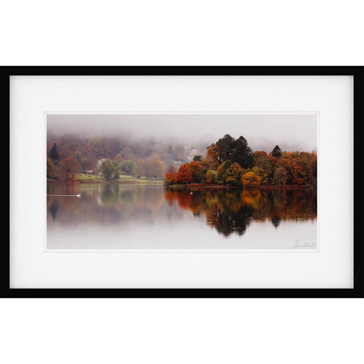 Grasmere Autumn Island Framed Print