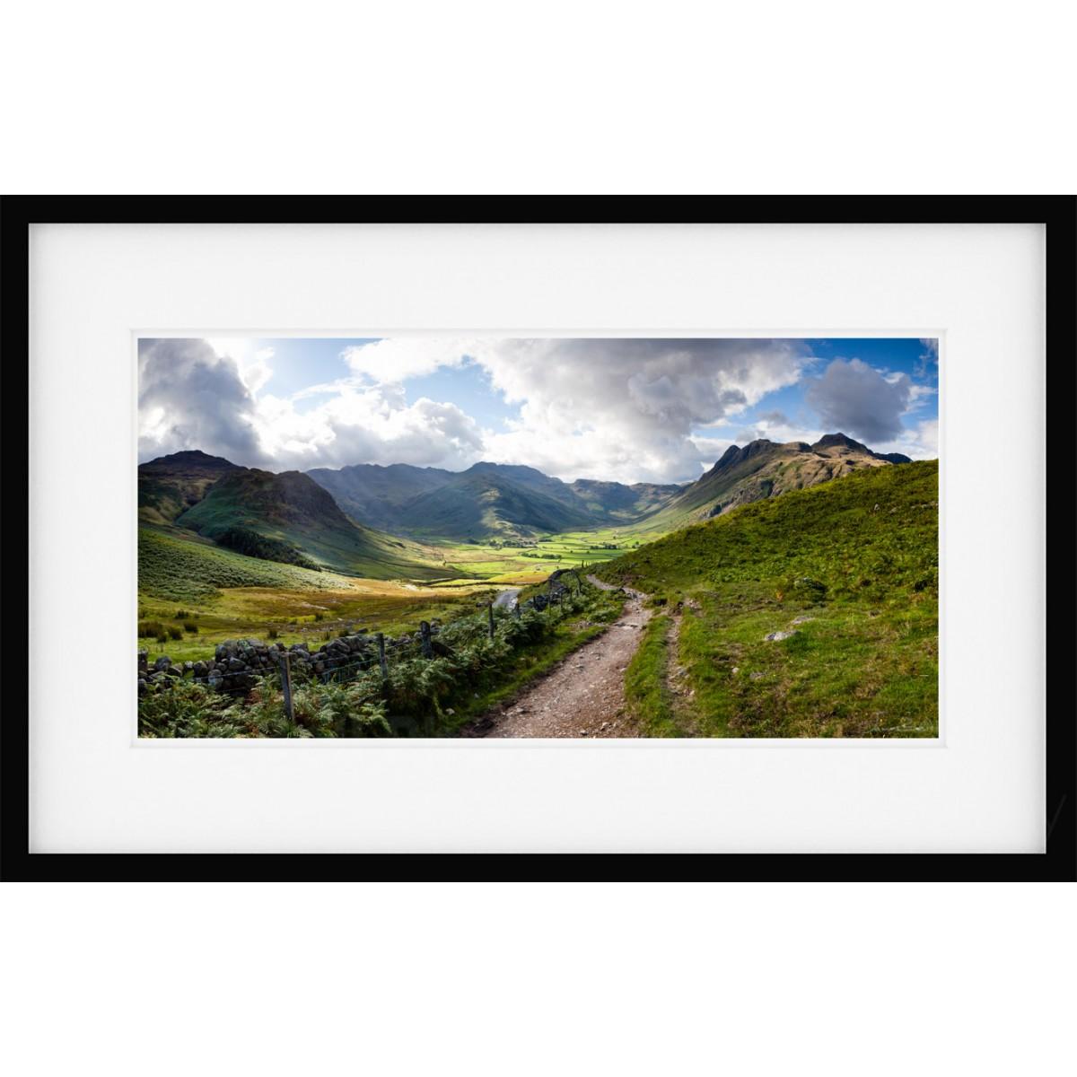 Langdale Summer Framed Print