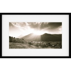 Buttermere Rays Framed Print