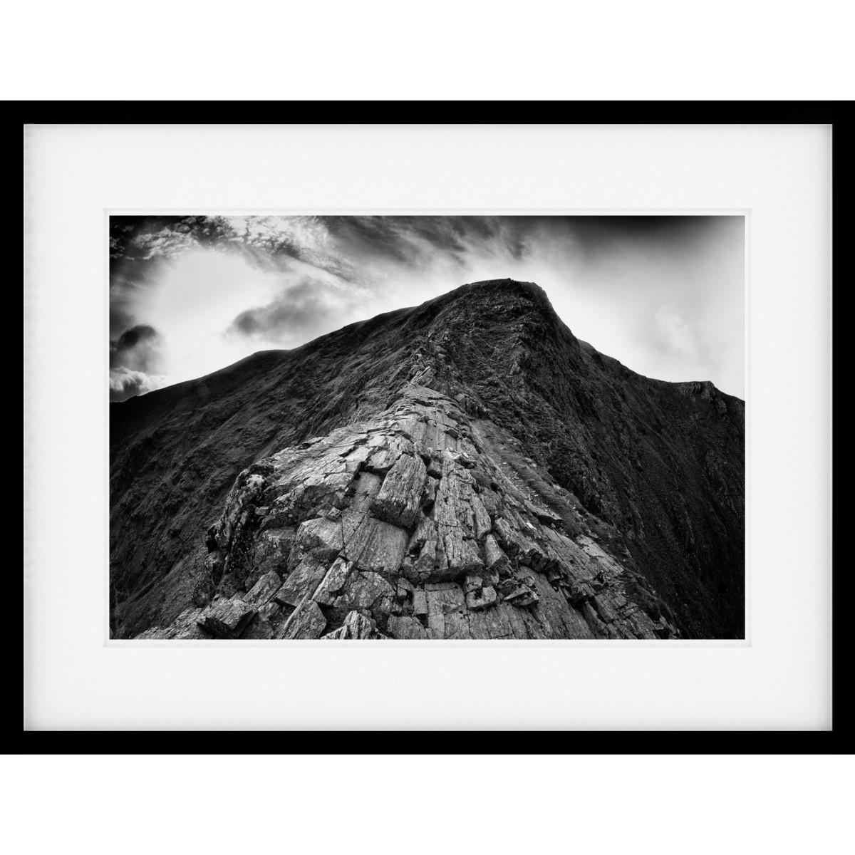 Sharp Edge Mono Framed Print