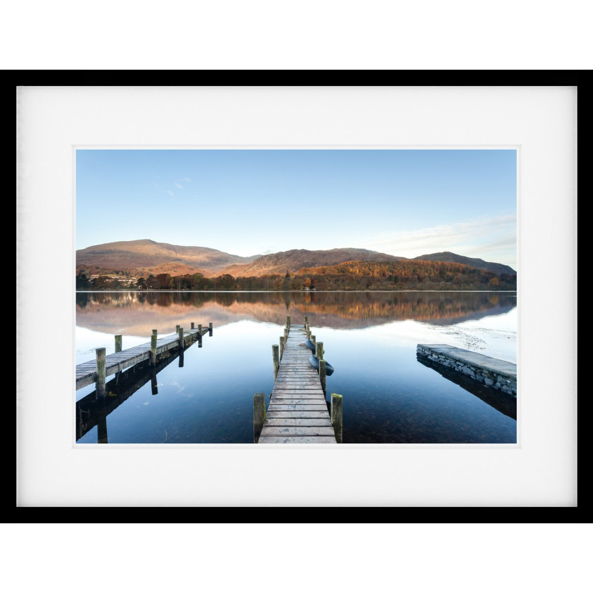 Triple Jetty Framed print