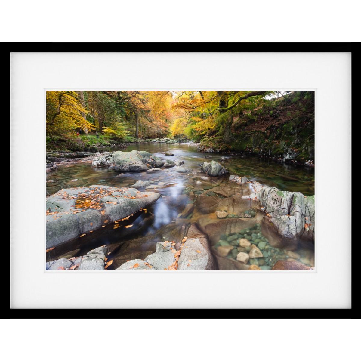 Autumn Rock Pool Framed Print