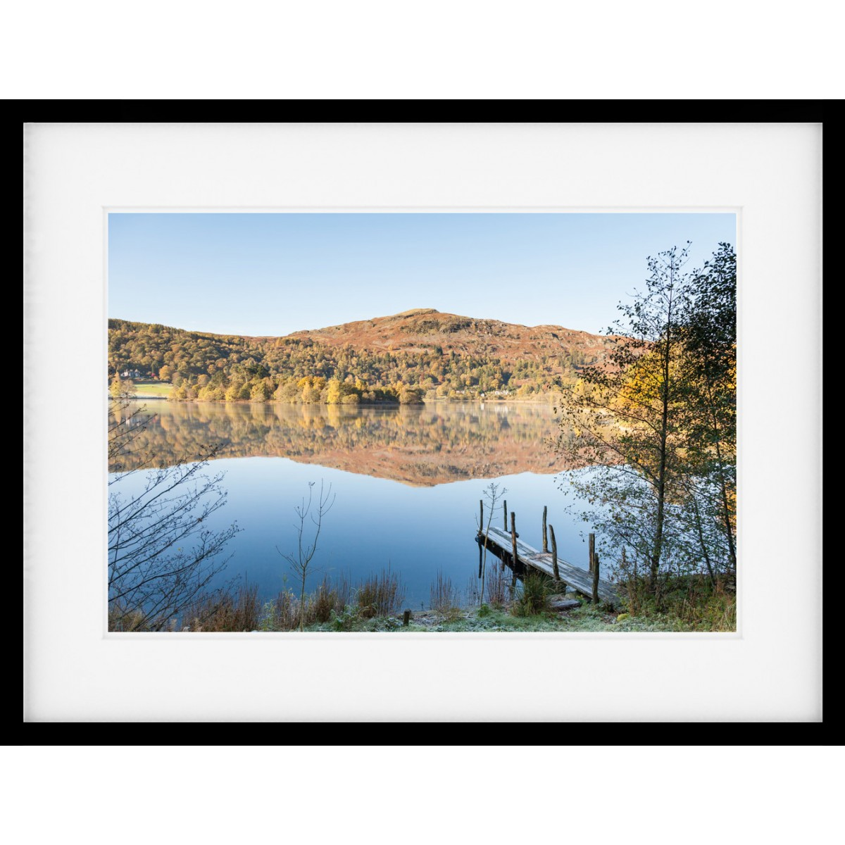 Grasmere Jetty Framed print
