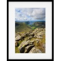 Wasdale from Great gable Framed print