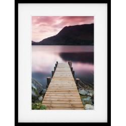 Ullswater Jetty Sunrise Framed Print