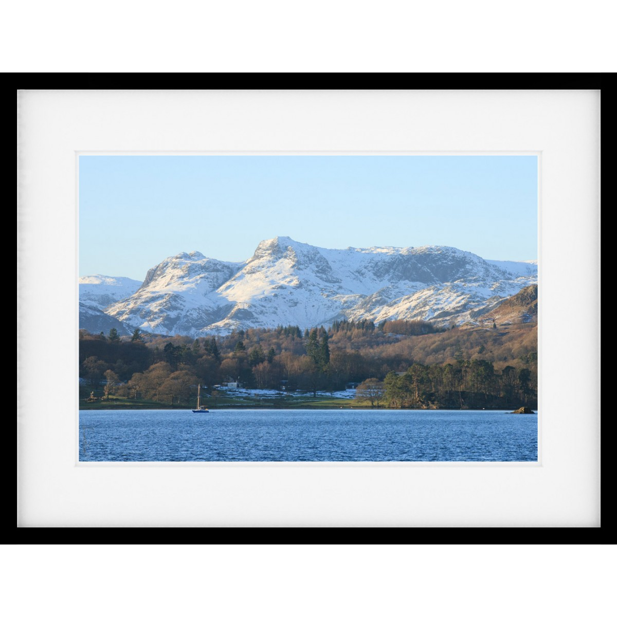 Windermere Winter View Framed Print