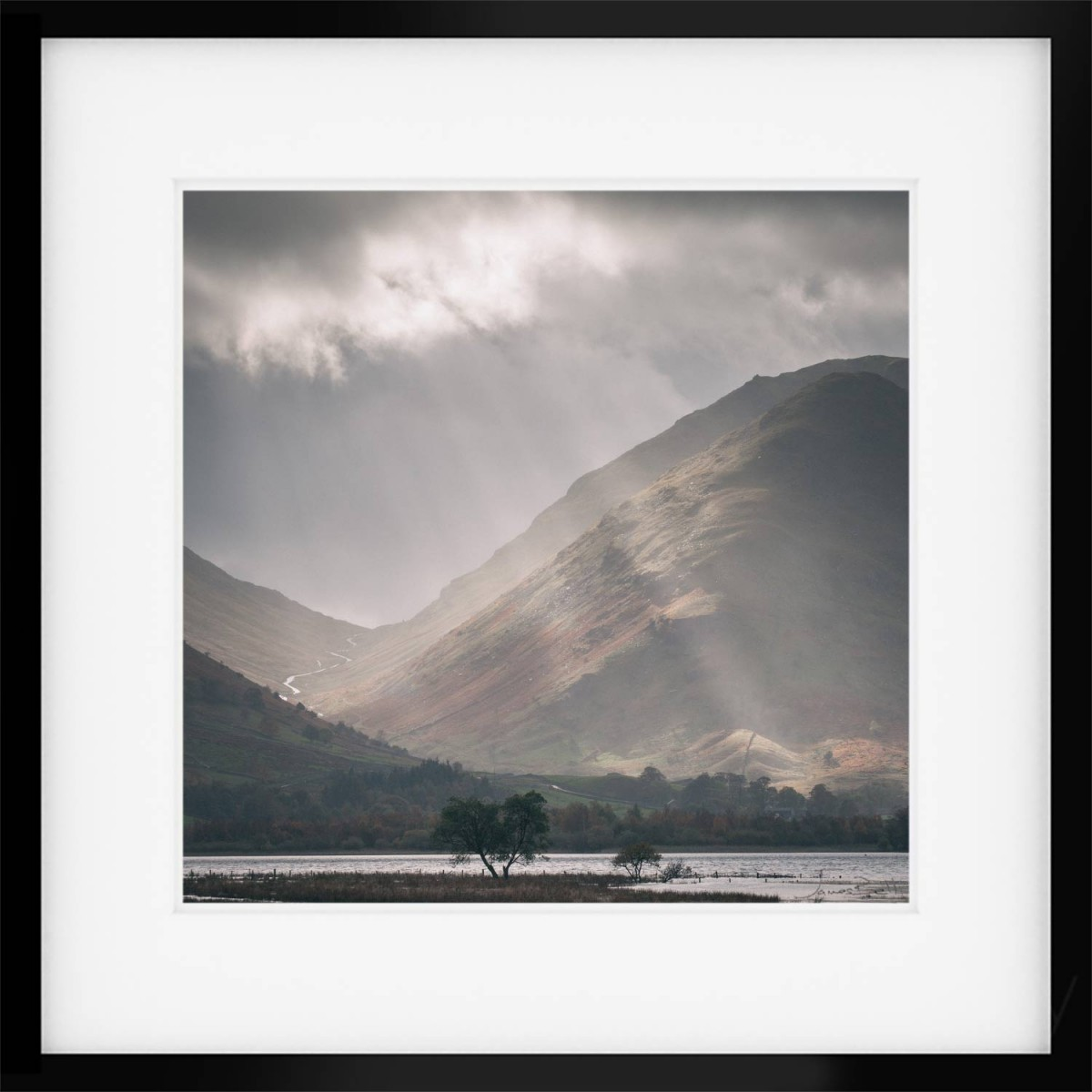 Brothers water below the Kirkstone Pass framed Print