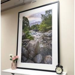Ashness Bridge Framed Print in black frame