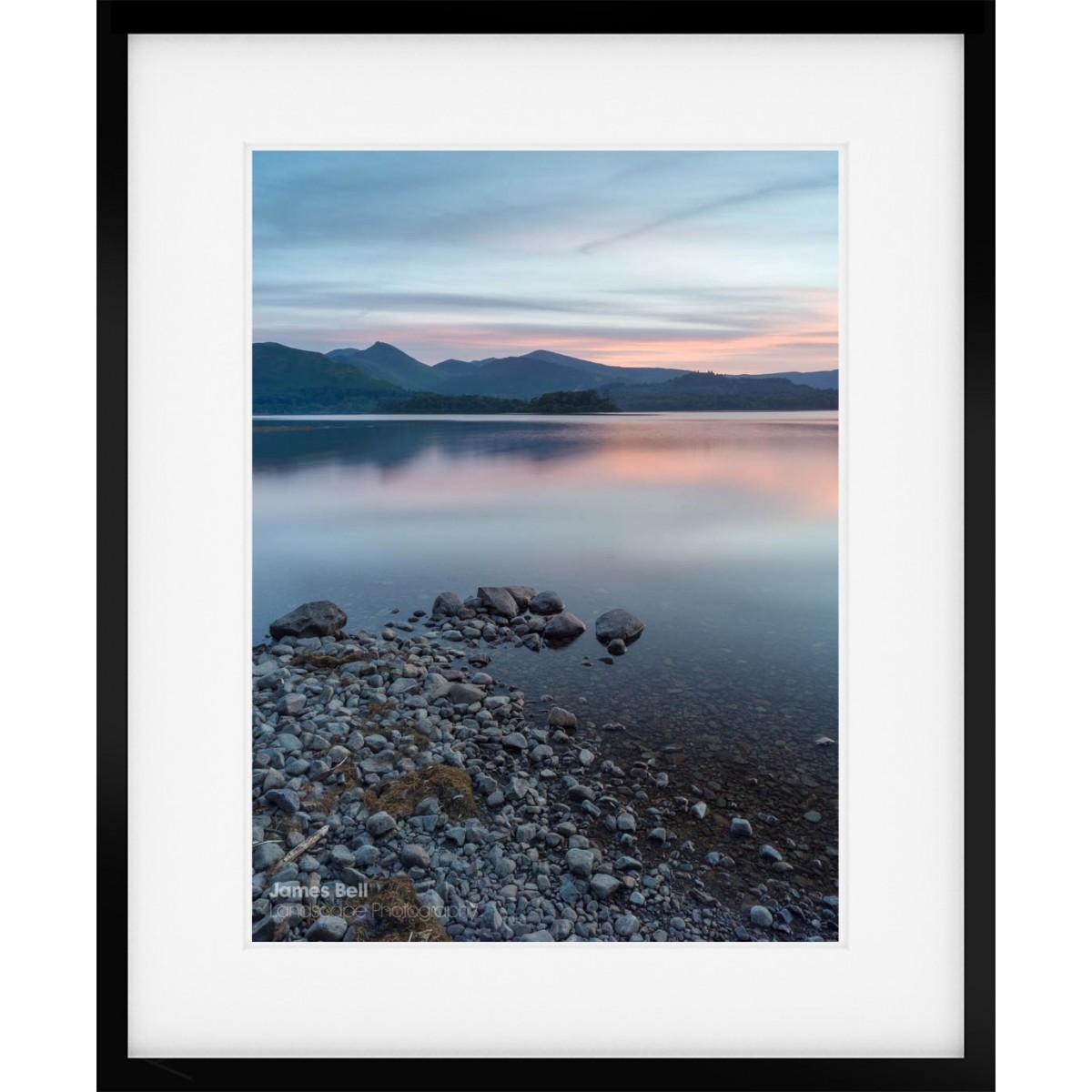 Derwentwater Dusk framed print