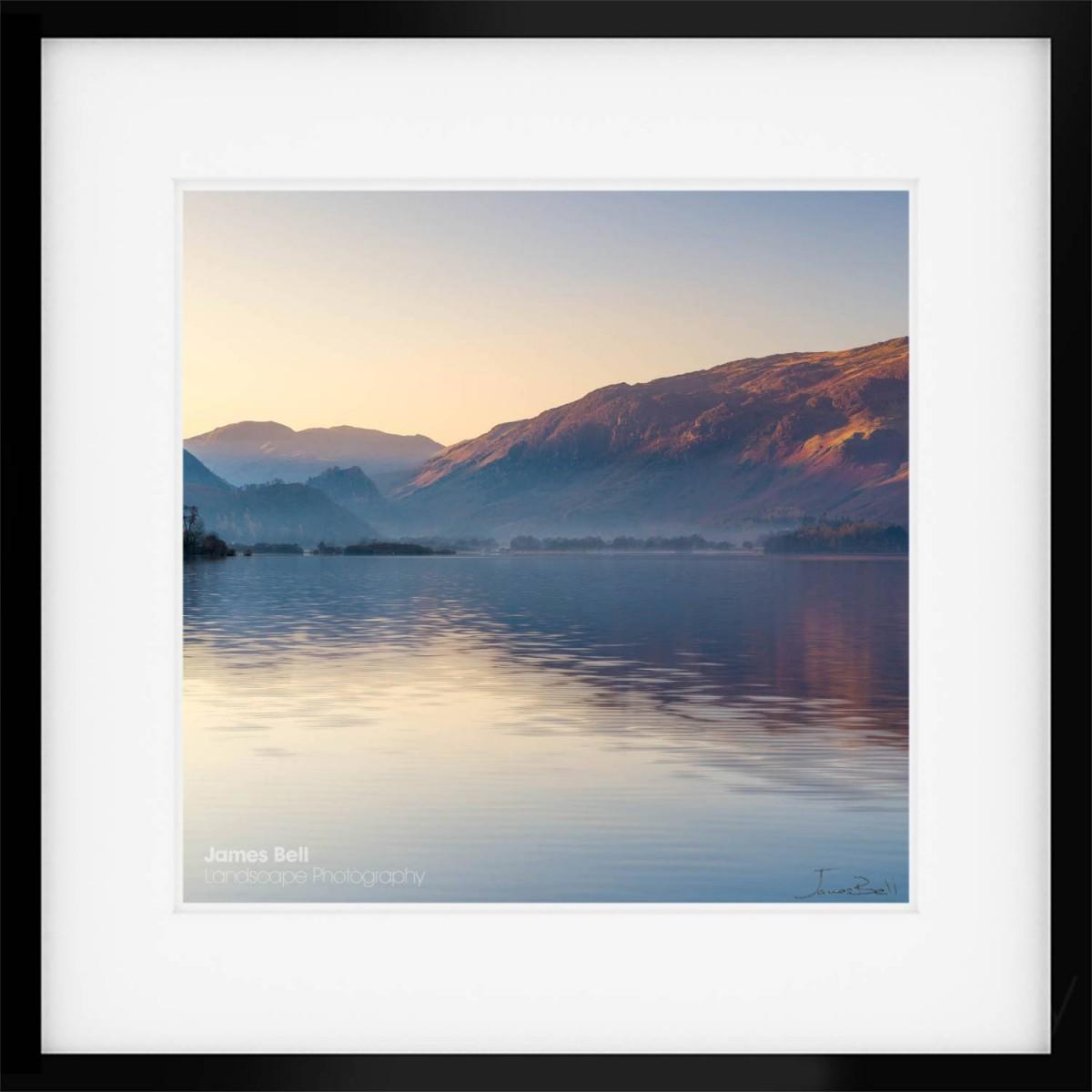 Borrowdale Sunrise Square framed print