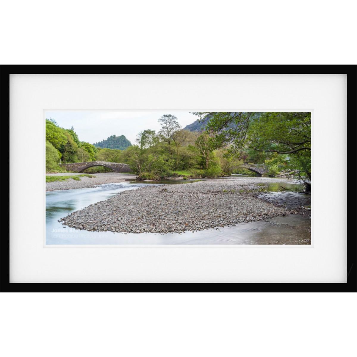 Grange Double Bridge Borrowdale framed print