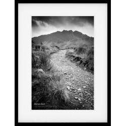 Path to Haystacks framed print
