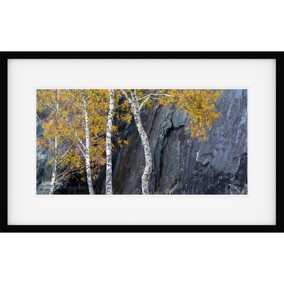 Quarry Contrasts framed print