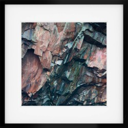 Slate Square framed print