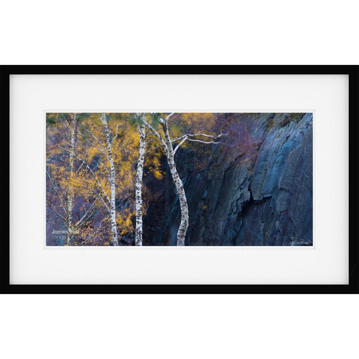 Quarry Contrasts III framed print