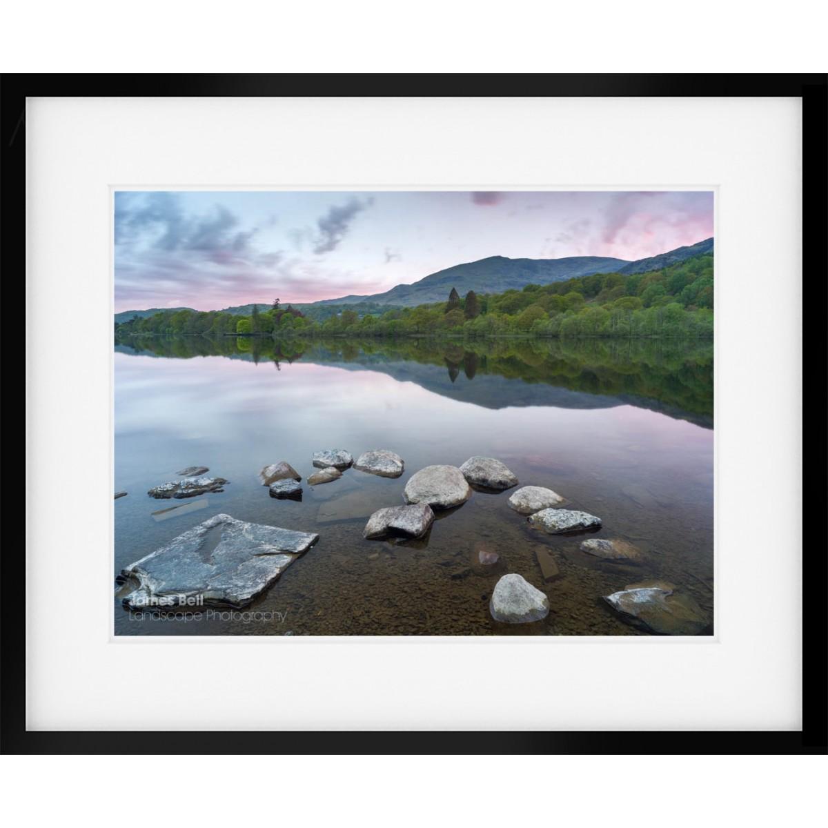 Coniston Rocks framed print