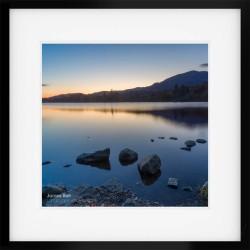 Coniston Twilight III framed prin