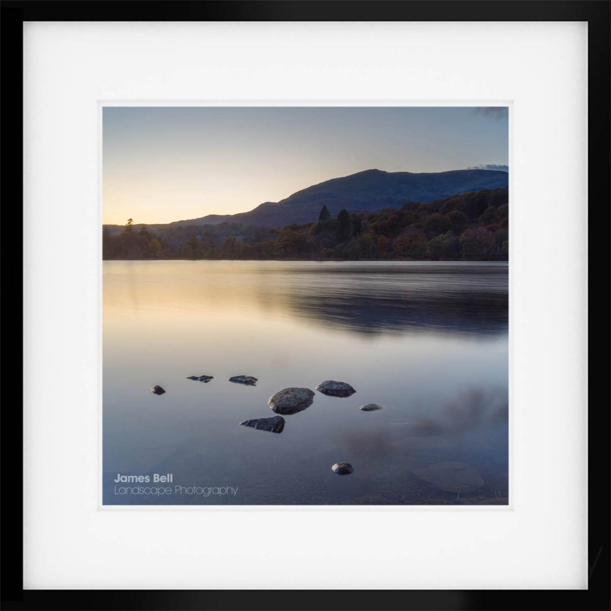 Coniston Twilight IV framed print