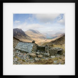 The Retreat Square framed print