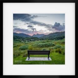 Elterwater Sunset Square framed print