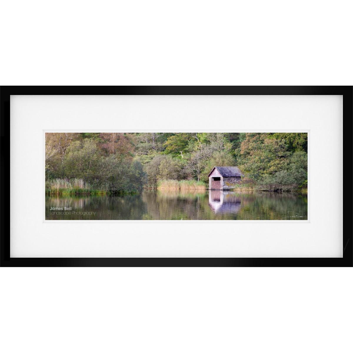 Rydal Boathouse Wide framed print